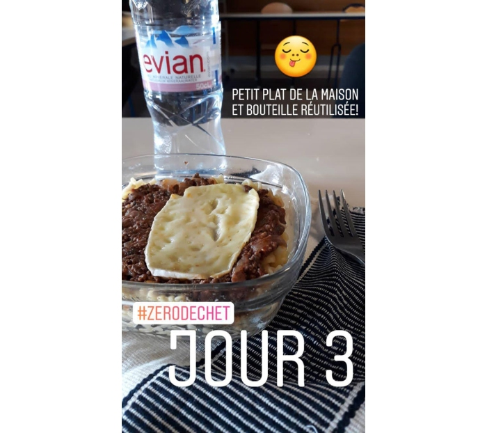 Story 3 Instagram du challenge 0 déchet