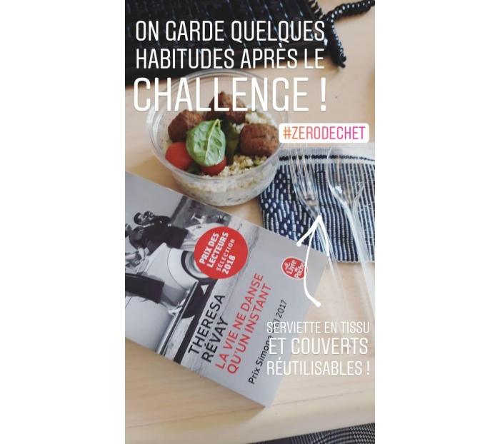 Story Instagram après le challenge 0 déchet