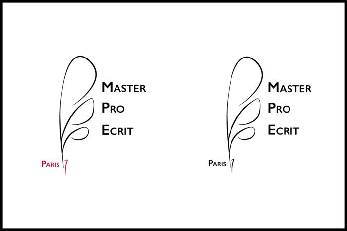 Logos Master Pro de l'écrit réalisé sur Illustrator par Chloé Andrianarisoa